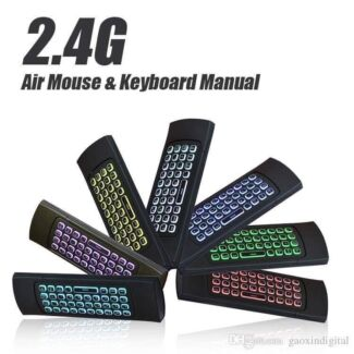 Wireless Air Mouse backlight (7 colours) Keyboard w Input Remote