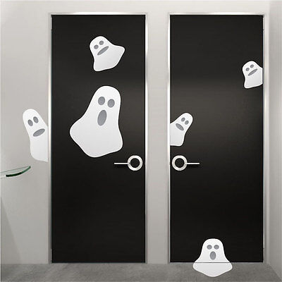 Halloween Ghosts Wall Decals Wallpaper Scary Seasonal Decorations Vinyl, h07