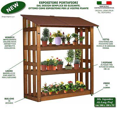 Scaffali portafiori portavaso fioraio serra fioriera in legno piante giardino