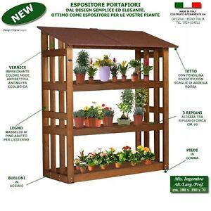 Scaffali-portafiori-portavaso-fioraio-serra-fioriera-in-legno-piante ...