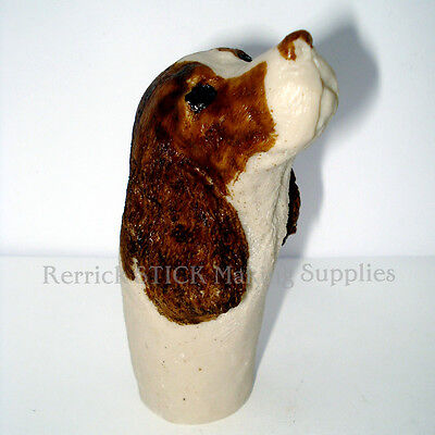 COCKER SPANIEL HEAD CAST RESIN HANDLE FOR WALKING STICK MAKING