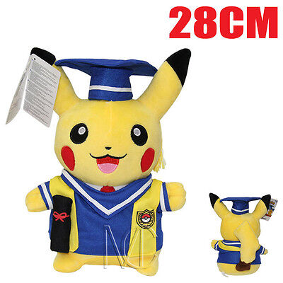 NEW Doctor Graduation Pikachu Pokemon Pocket Monster Plush Toys Doll Kids Gift