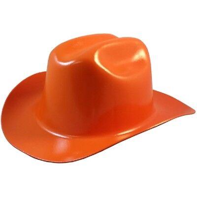 Outlaw Cowboy Style Safety Hard Hat Orange Ratchet Susp Ansiosha Approved