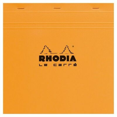 Rhodia Staplebound - Notepad - Orange - Graph - Le Carr - 8.25 X 8.25 - R210200