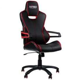Nitro Concepts E200 Gaming Chair - Black/Red Collection Only