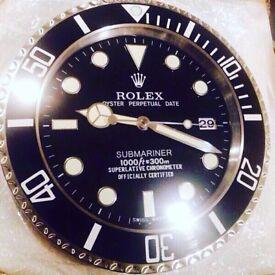 Rolex wall clock brand new