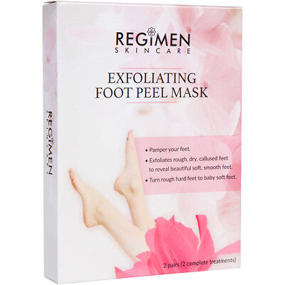 - Foot Peeling Mask Sock 2 Pair -Exfoliating Callus/Dead Skin  -Baby Soft Foot