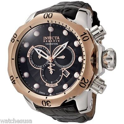 Invicta Men's 0360 Reserve Venom Chronograph Leather Band Quartz Watch