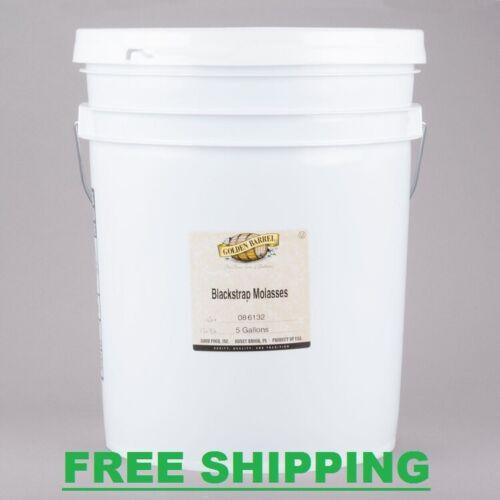 Golden Barrel Sulfur Free Blackstrap Molasses 5 Gallon Pail Commercial Bulk Seal