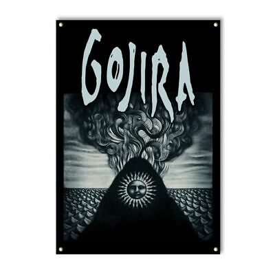 Gojira Elements Death Groove Metal Rock Music Band Poster Banner Flag -