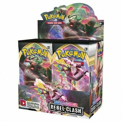 Pokemon - Sword & Shield: Rebel Clash - Booster Box (Factory Sealed)