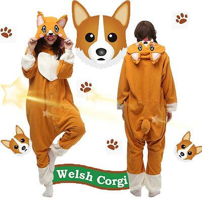 Unisex Welsh Corgi Dog Halloween Cosplay Costume Kigurumi Pajamas Christmas Gift