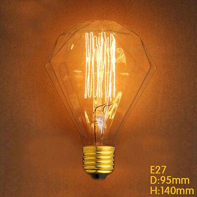 Special Big Diamond light bulb Vintage Edison rare Filament Gift birthday lamp