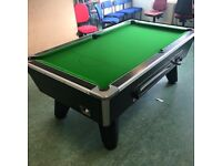 Reconditioned 7ft Coin Operated UK pool table, new cloth, balls, cues etc