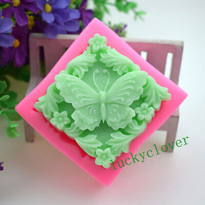 Silicone Butterfly Soap Mould Fondant Cake Decorating Tool Chcolate Cookie Mold