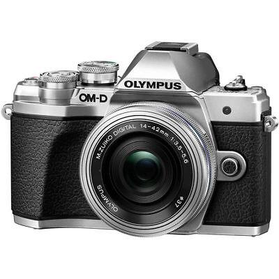 Olympus OM-D E-M10 Mark III Digital Camera w/14-42mm EZ Lens (Silver) EX++ #CR