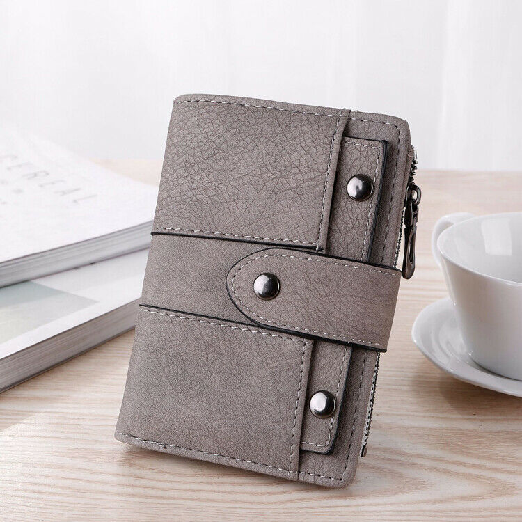 Women Ladies Small Leather Bifold Wallet ID Card Holder Purse Clutch Handbag US Clothing, Shoes & Accessories