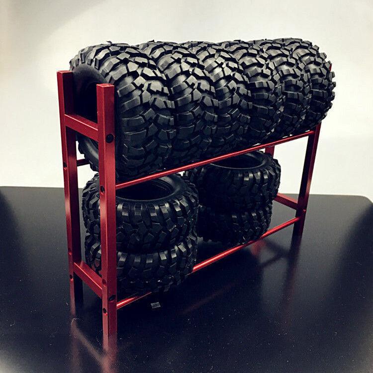 Metall Tire Rack Reifenregal für RC 1//10 Wheel Tire RC 4wd SCX10 D90 CC01 Rot