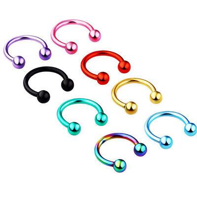 50pcs Titanium Circular Barbells Wholesale Body Jewelry 16g Horseshoes CBR Rings Circular Horseshoe Barbell Body Jewelry