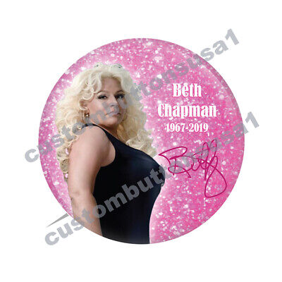BETH CHAPMAN BUTTON - DOG THE BOUNTY HUNTER - A&E - Reality TV Star - Beth Dog The Bounty
