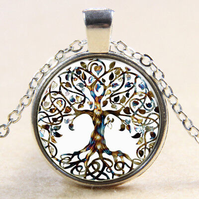 """Jewellery - Tree Of Life Silver Plated Pendant Necklace 18"""" Jewellery (019)"""