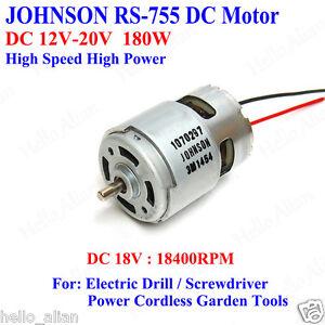 Johnson rs 755 dc motor dc12v 20v high speed high power for High power electric motors