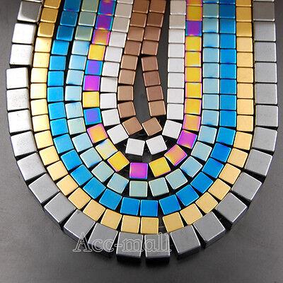Hematite Gemstone Cube Square Loose Beads 2mm 3mm 4mm 6mm 8mm 10mm 15.5
