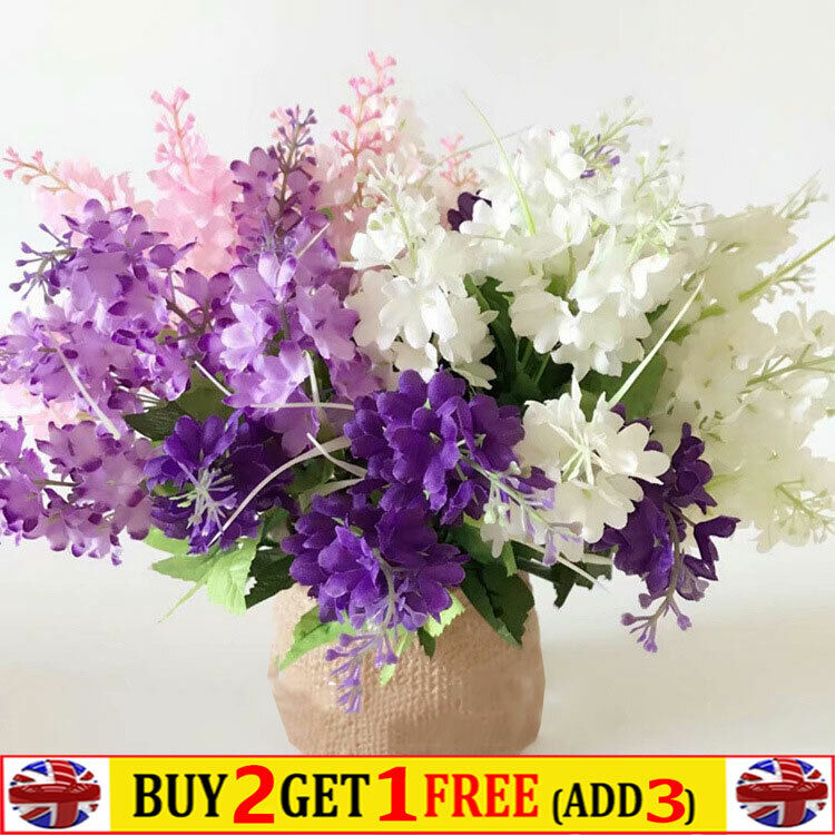 Home Decoration - Artificial Hyacinth Silk Flowers Fake Wedding Bouquet Home Party Decoration
