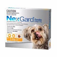 Nexgard (Available for All Dog Sizes 2kg+) (3 or 6 Chew Packs) Jamisontown Penrith Area Preview