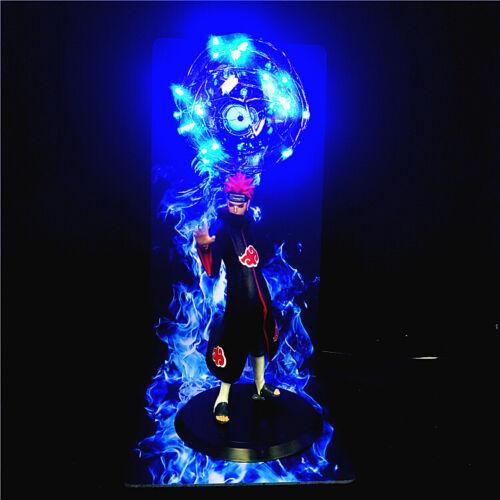 "Pein Pain Akatsuki Naruto Anime Statue Figurine Figure 14"" Blue LED DIY Lamp"