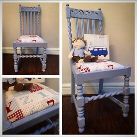 Lovely hand painted nursery/ bedroom chair