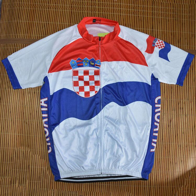 CROATIA Cycling Jersey Retro Road Pro Clothing MTB Short Sleeve Racing Bike DIY