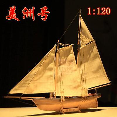 Hobby ship model kits Scale 1/120 AMERICA 1851 Yacht race sailboat wooden model for sale  China