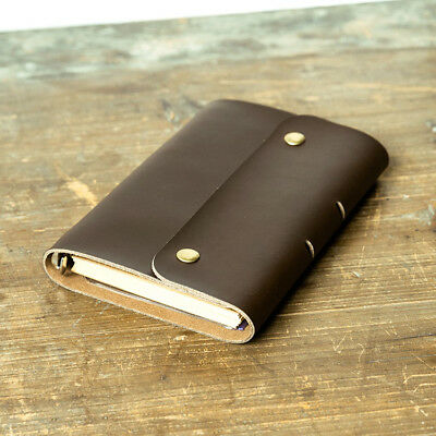 Personalized Genuine Leather Notebook Journal Refillable Writing Handmade Custom