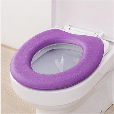 Warm Toilet Seat Covers - 2pc O-type EVA Toilet Seat Waterproof Soft Padded Toilet Cleaning Pad Warm Cover