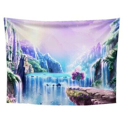 """Tapestry """"Trippy Waterfall"""" (Queen Bed Width) 60"""" x 51"""" Psychedelic"""