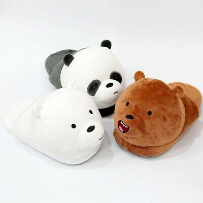 Cartoon We Bare Bears Slippers Panda Warm Slippers Polar Bear Indoor - Polar Slippers
