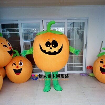 Pumpkin Mascot Costume Suit Cosplay Party Game Dress Outfit Halloween Adult - Adult Pumpkin Outfit