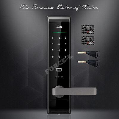 Keyless Digital Door Lock Electronic Security Entry Passcode+RFTag+Emergency Key