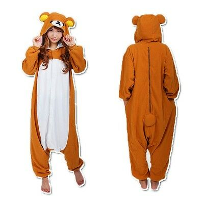 Rilakkuma Kigurumi Japanese Party Pajamas Halloween Cosplay Costume Sleepwear (Halloween Pajama Costumes)