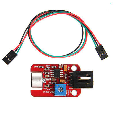 New Analog voice Sound Sensor module with 3pin Dupont jumper wire
