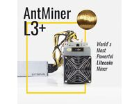 Used Bitmain Antminer L3+ 504mh L3++ 580mh With Power Supply PSU 504m