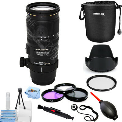 Sigma 70 200Mm F 2 8 Ex Dg Apo Os Hsm For Canon   Pro Bundle Brand New