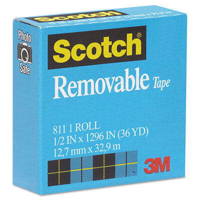 Scotch Removable Tape 12 X 1296 1 Core Transparent 811121296