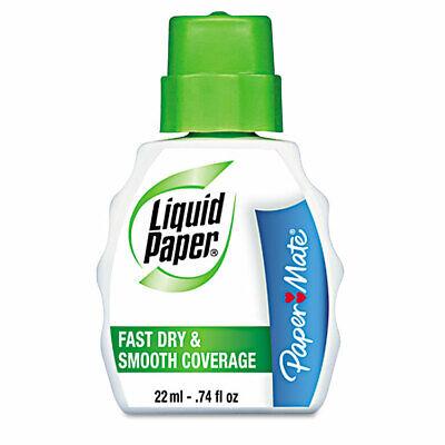 Paper Mate Liquid Paper Fast Dry Correction Fluid 22 Ml Bottle White Each