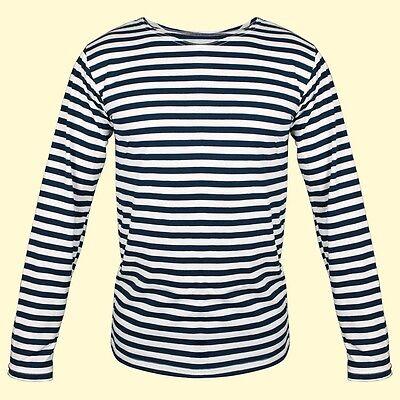 Matrosenhemd blau Gr.56 weiss gestreift Shirt Russisches Marine Тельняшка