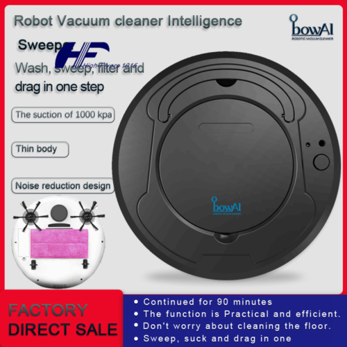 Smart Robotic Cordless Vacuum Cleaner Mop Pet Hair Multi Sur