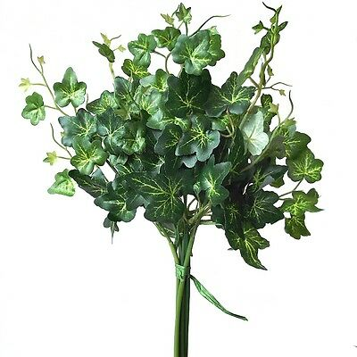 30cm Artificial Green Ivy Bundle - Decorative Plastic Plant Fake Foliage