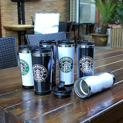 New Starbucks Double Wall Coffee Mug Tumbler Stainless Steel Travel Cups Hot