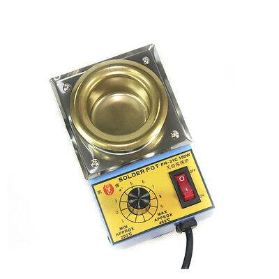 21c Solder Pot Soldering Desoldering Bath Titanium Plate 50mm 220v 150w 200480c